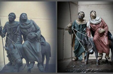 Terracotta Holy Family Statue by Indri Attard, Malta
