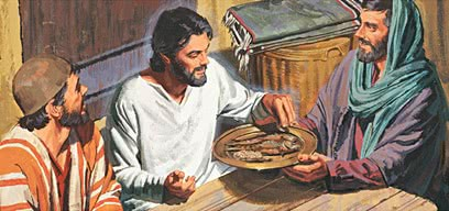 Jesus eating fish after resurrection