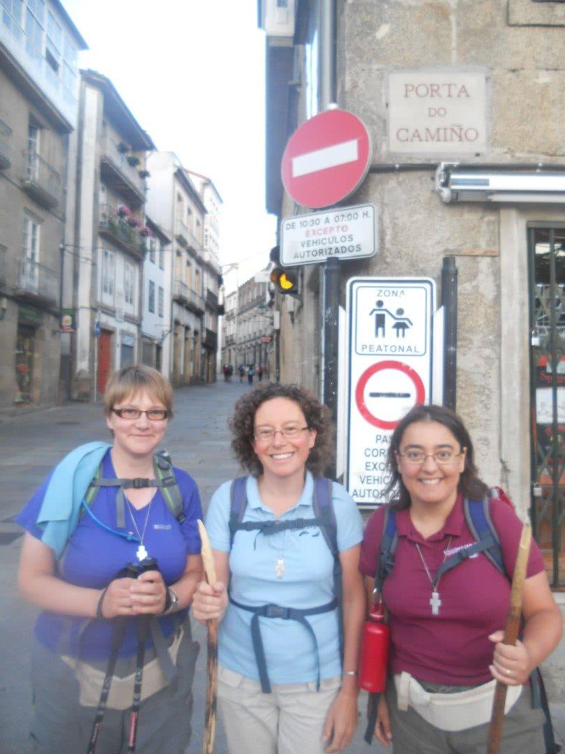 FCJ nun Sr Maryanne with other sisters