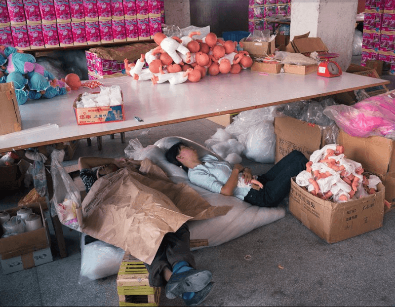 Toy factory workers on break, China, Michael Wolf