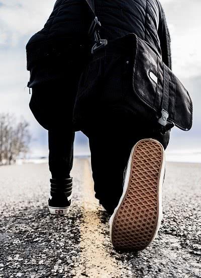 Walking ahead