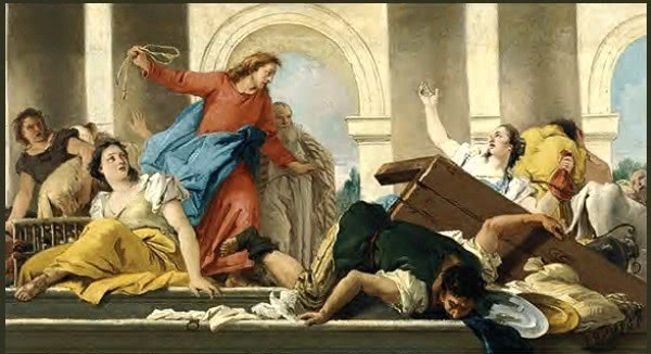 The role of money in our life. Jesus and the money changers