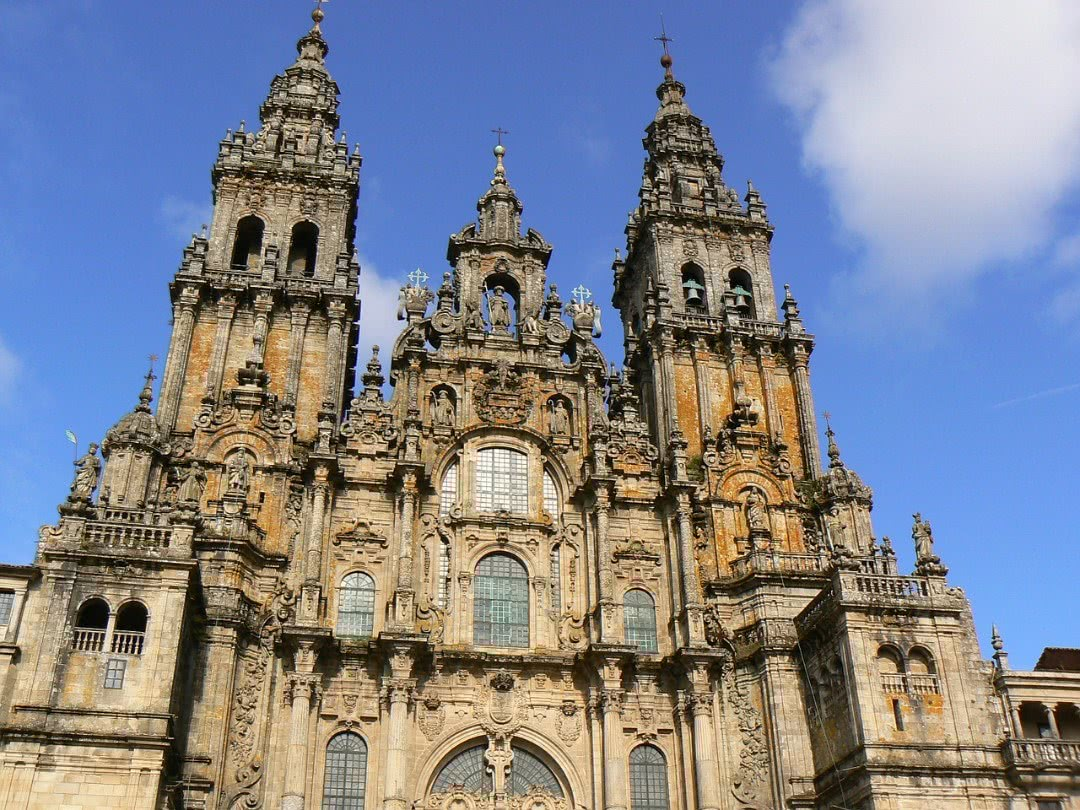 The Cathedral of Santiago de Comostela in Spain