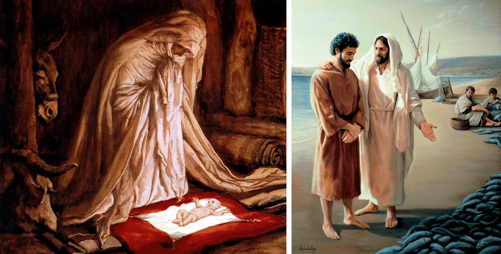 Christ treats us firmly yet tenderly. Images: James Jaques Joseph Tissot, David Lindsley