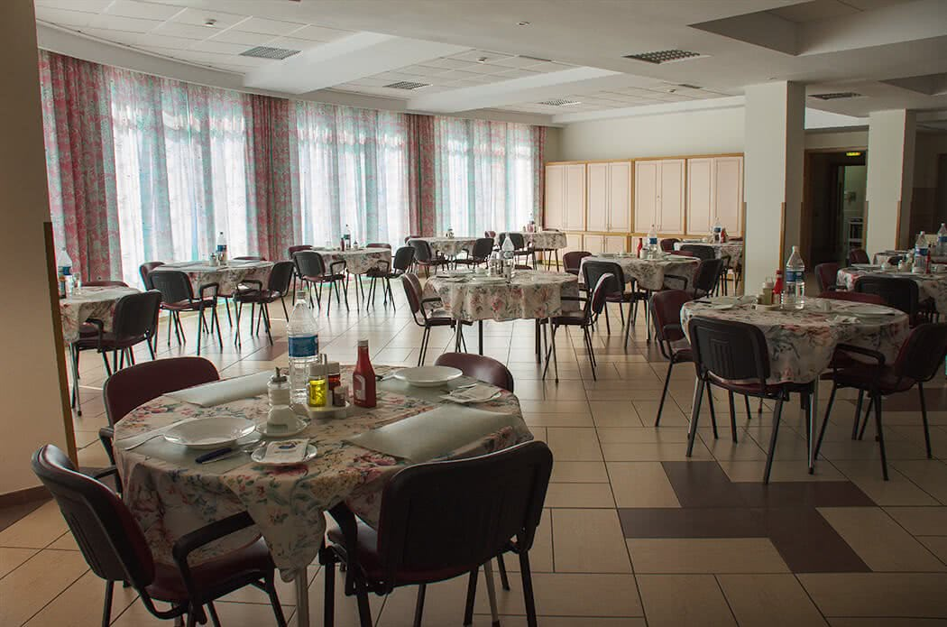 Dining area of the elderly home, Ħamrun, Malta