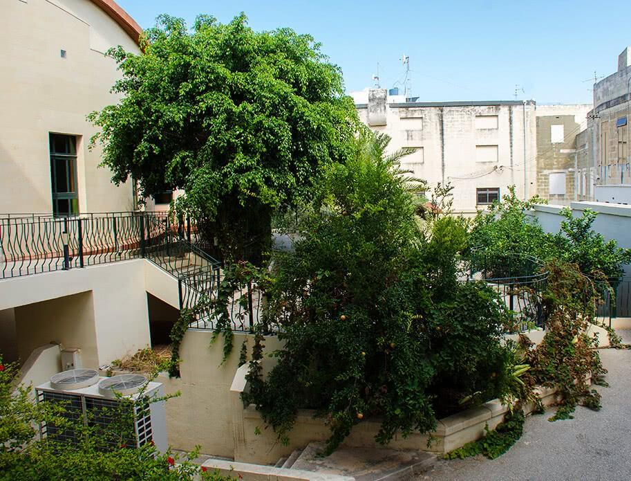 Outdoor area of the Little Sisters' elderly home, Hamrun, Malta