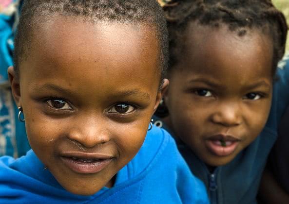 Children in Tanzania, Food Quote. Photo: Christina Gatt