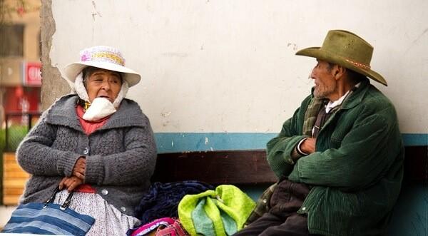 Elderly in Peru. Photo: Christina Gatt