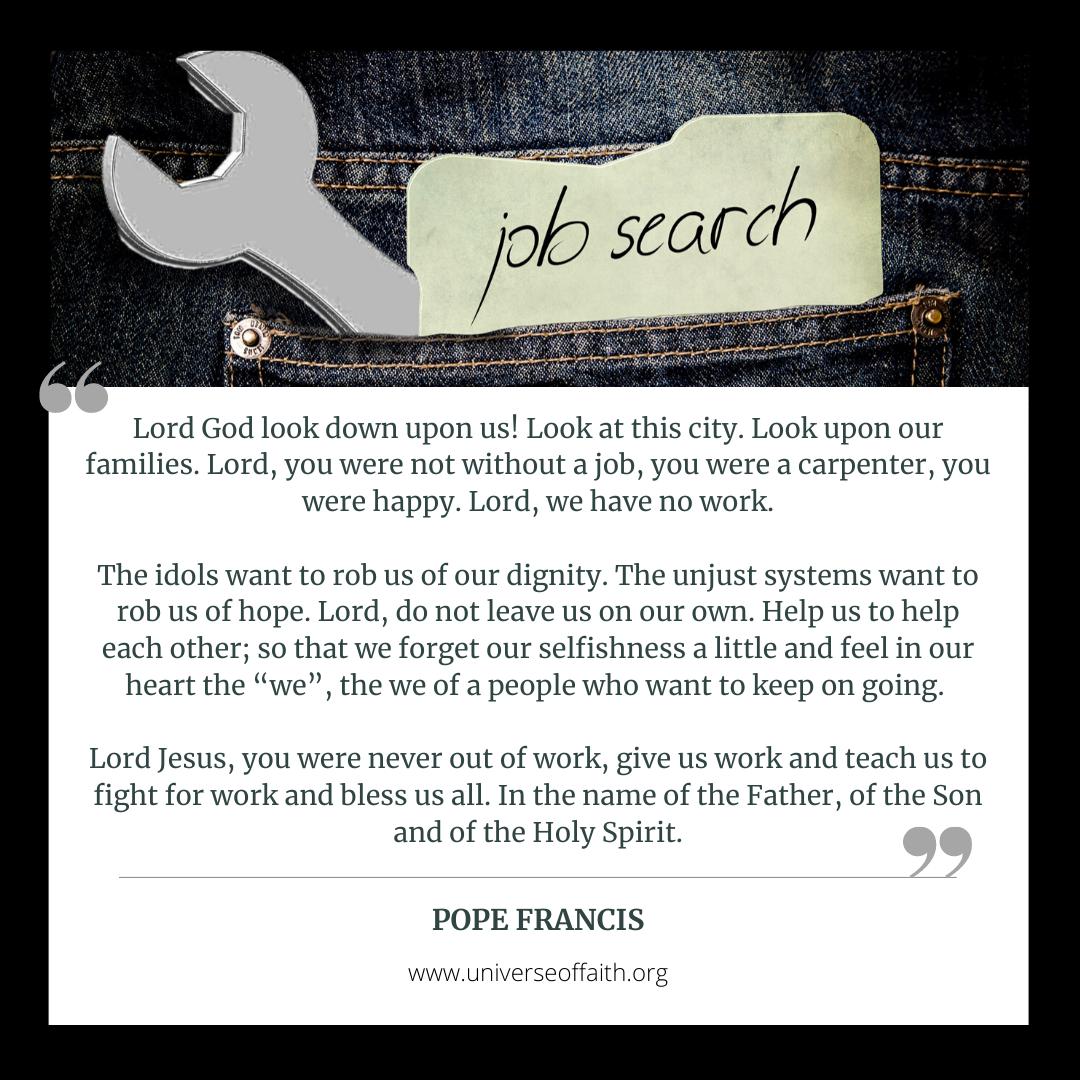 Unemployment Prayer Pope Francis