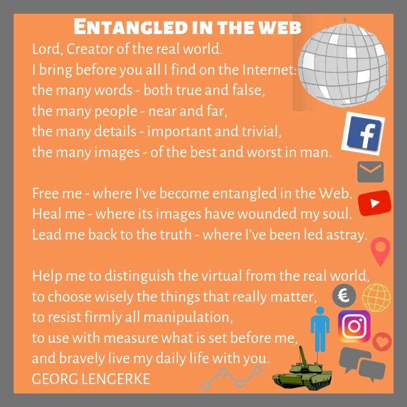 Prayer for media - entangled in the web