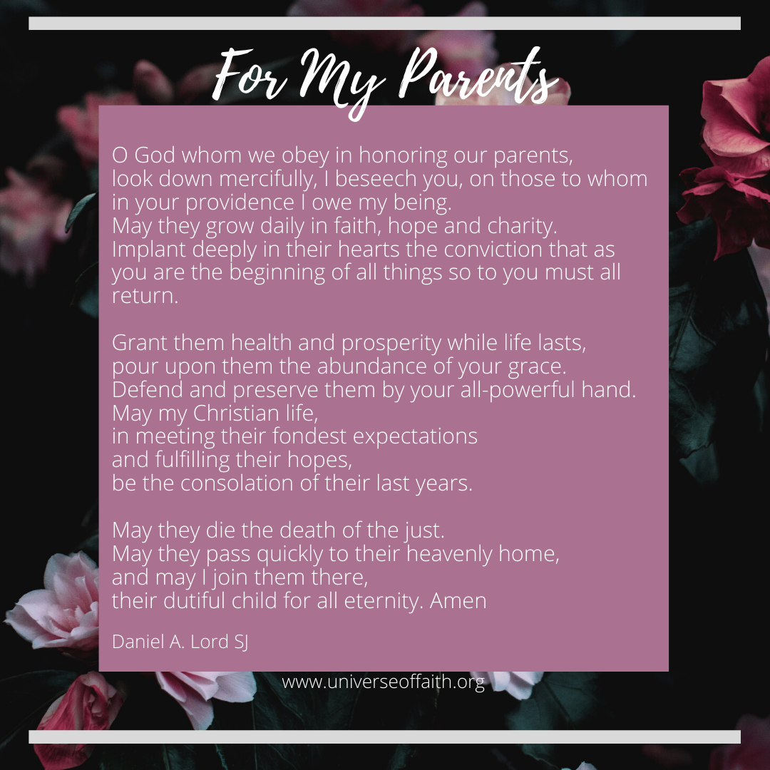 Prayer For My Parents