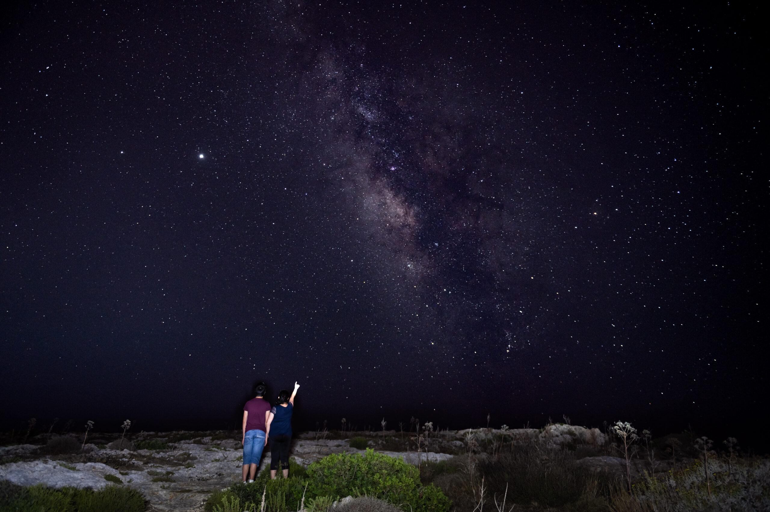 The Milky Way from Dingli Cliffs, Malta. Photo: Ian Noel Pace
